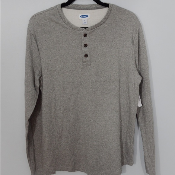 Old Navy Other - Old Navy Grey Log Sleeve Henley for Men